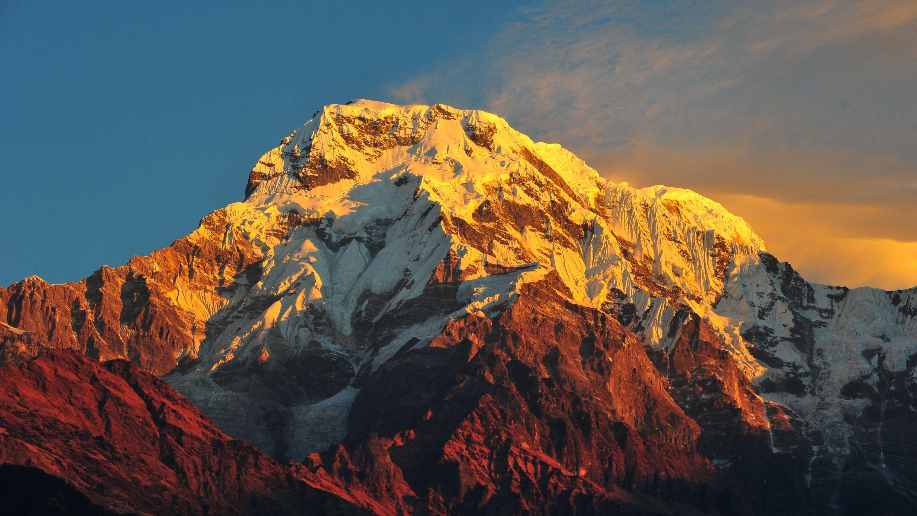 annapurna massif himalayas nepal uhd 4k wallpaper pixelz