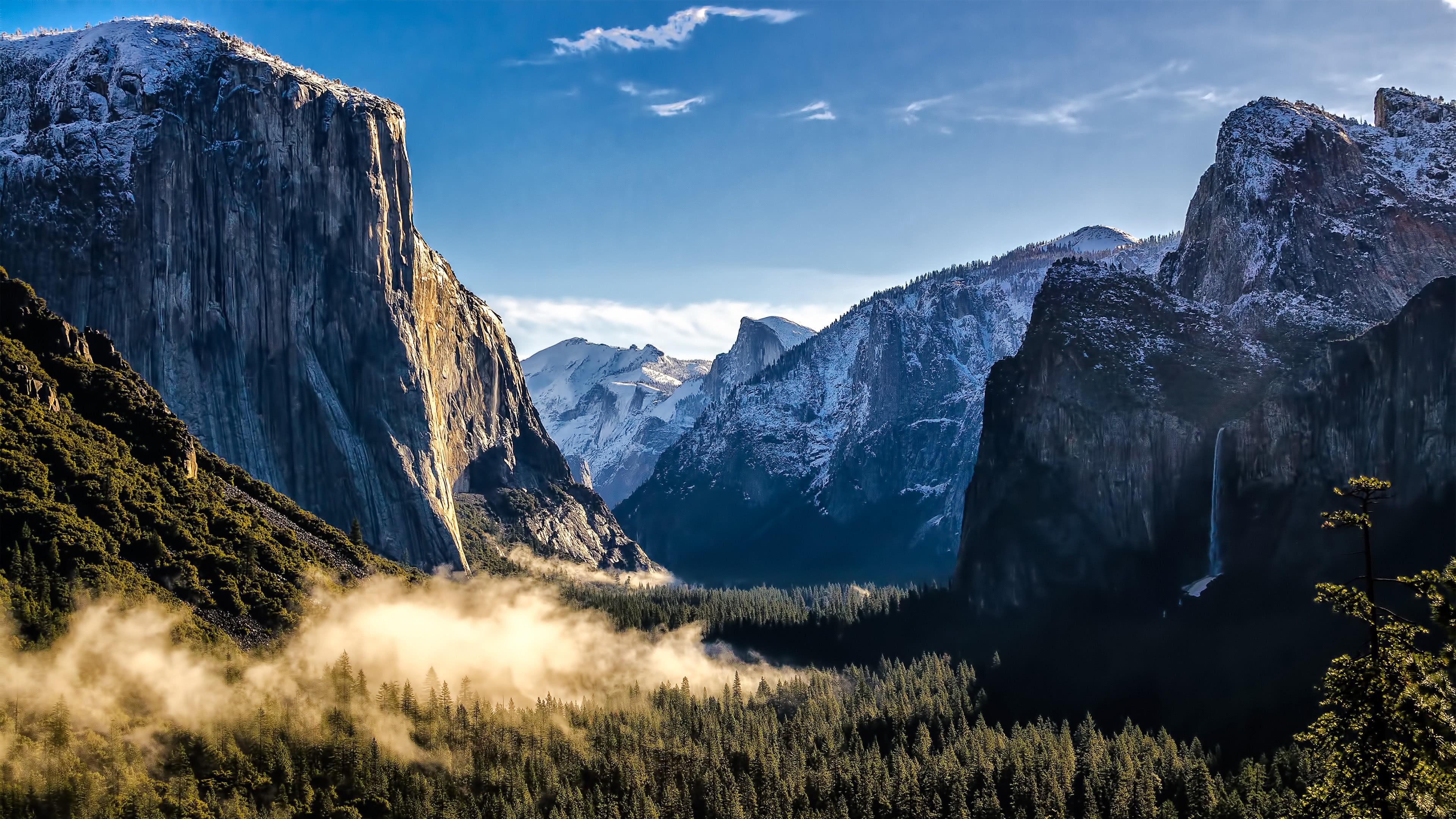 el capitan rock formation yosemite national park california united states 4k wallpaper
