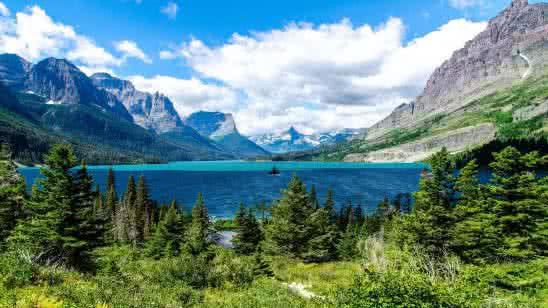 glacier national park mountain range united states 4k wallpaper