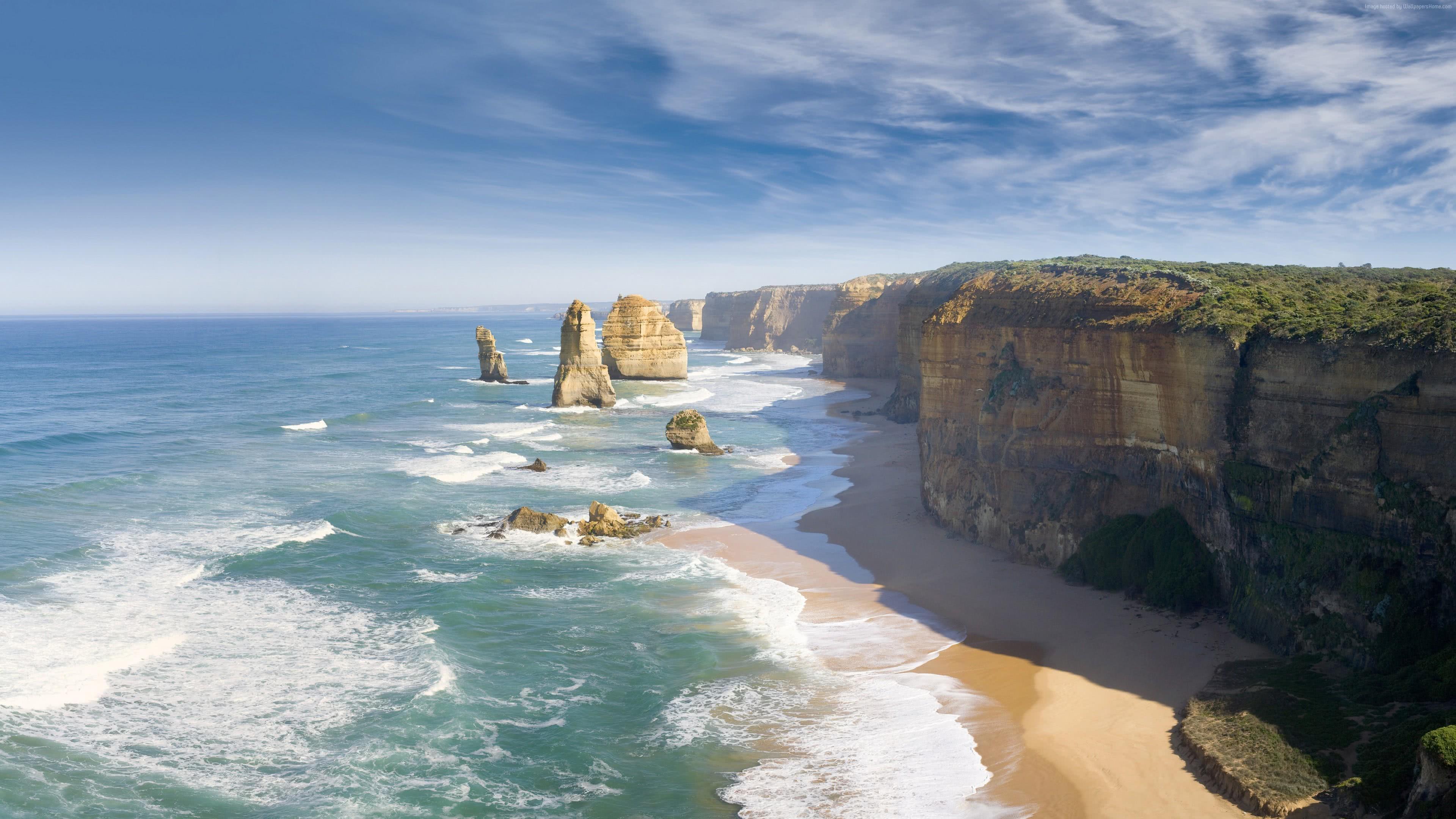 great ocean road victoria australia 4k wallpaper