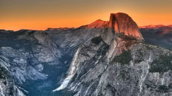 half dome granite dome rock formation yosemite national park california united states 4k wallpaper