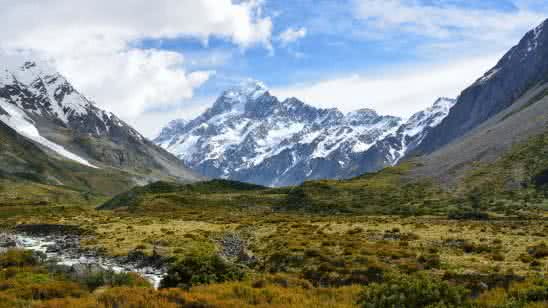 hooker glacier aoraki mount cook mackenzie region new zealand 4k wallpaper