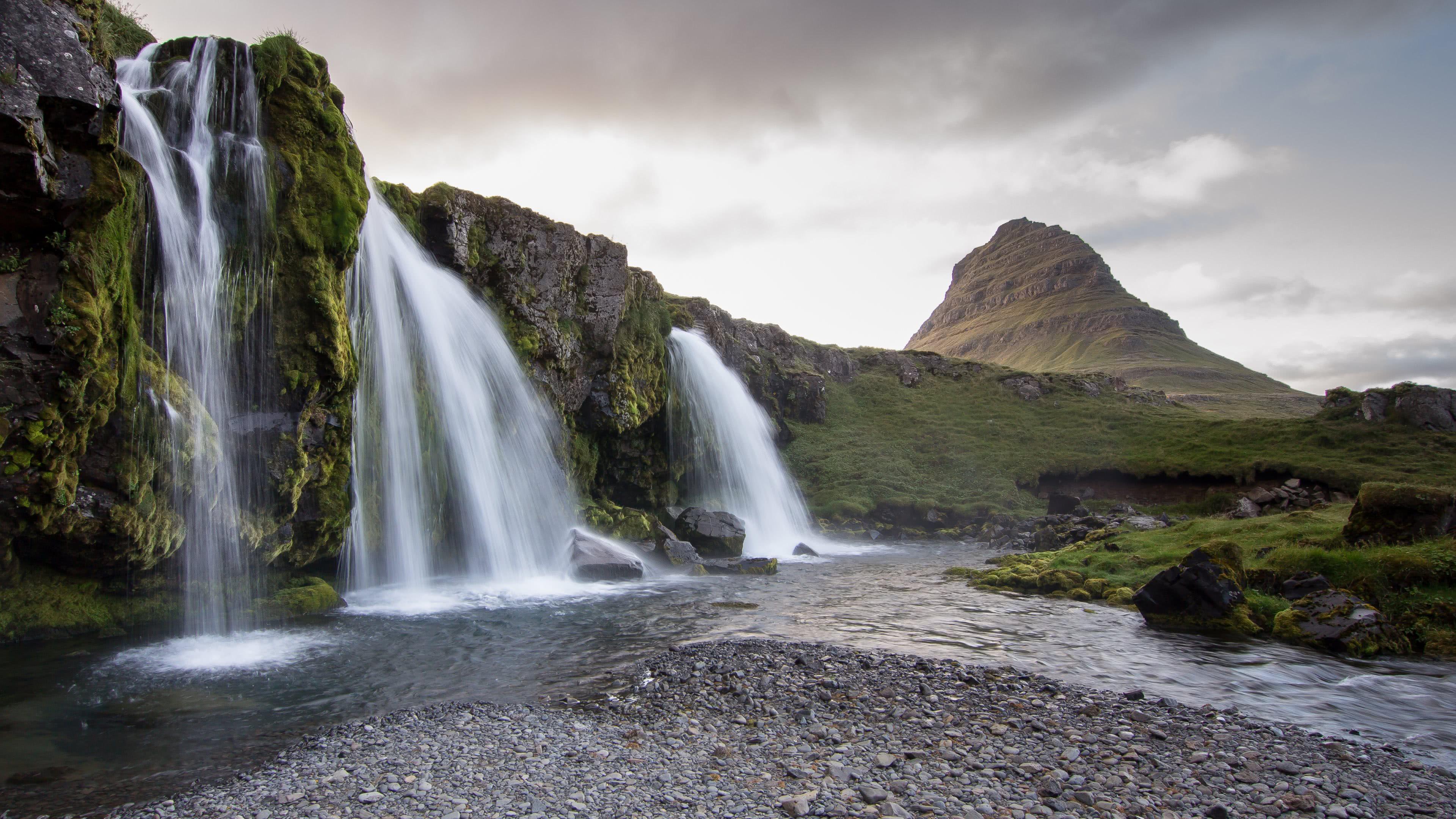 Iceland Waterfall Kirkjufell Mountain Uhd 4k Wallpaper