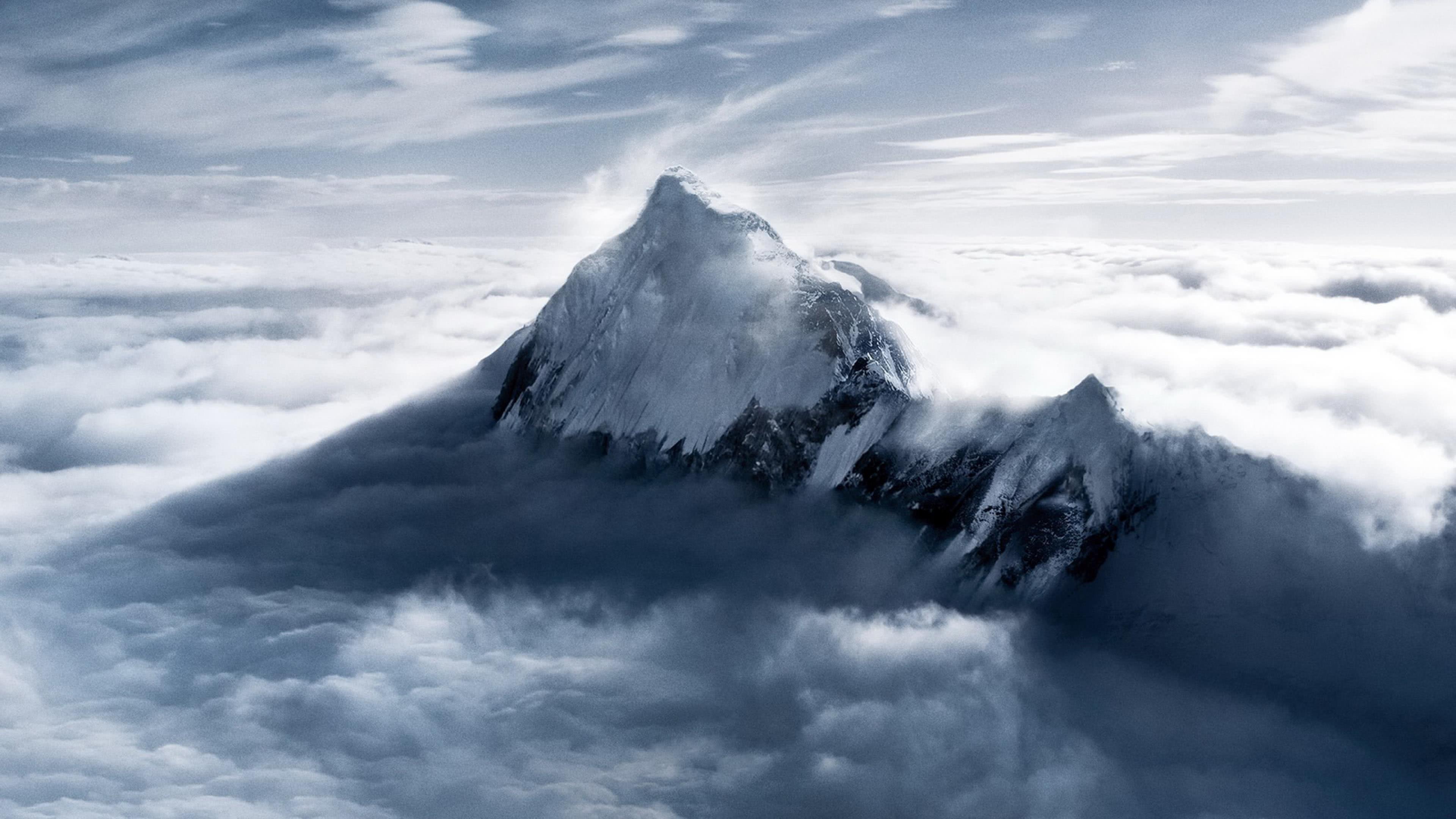mount everest mahalangur mountain range himalayas nepal 4k wallpaper