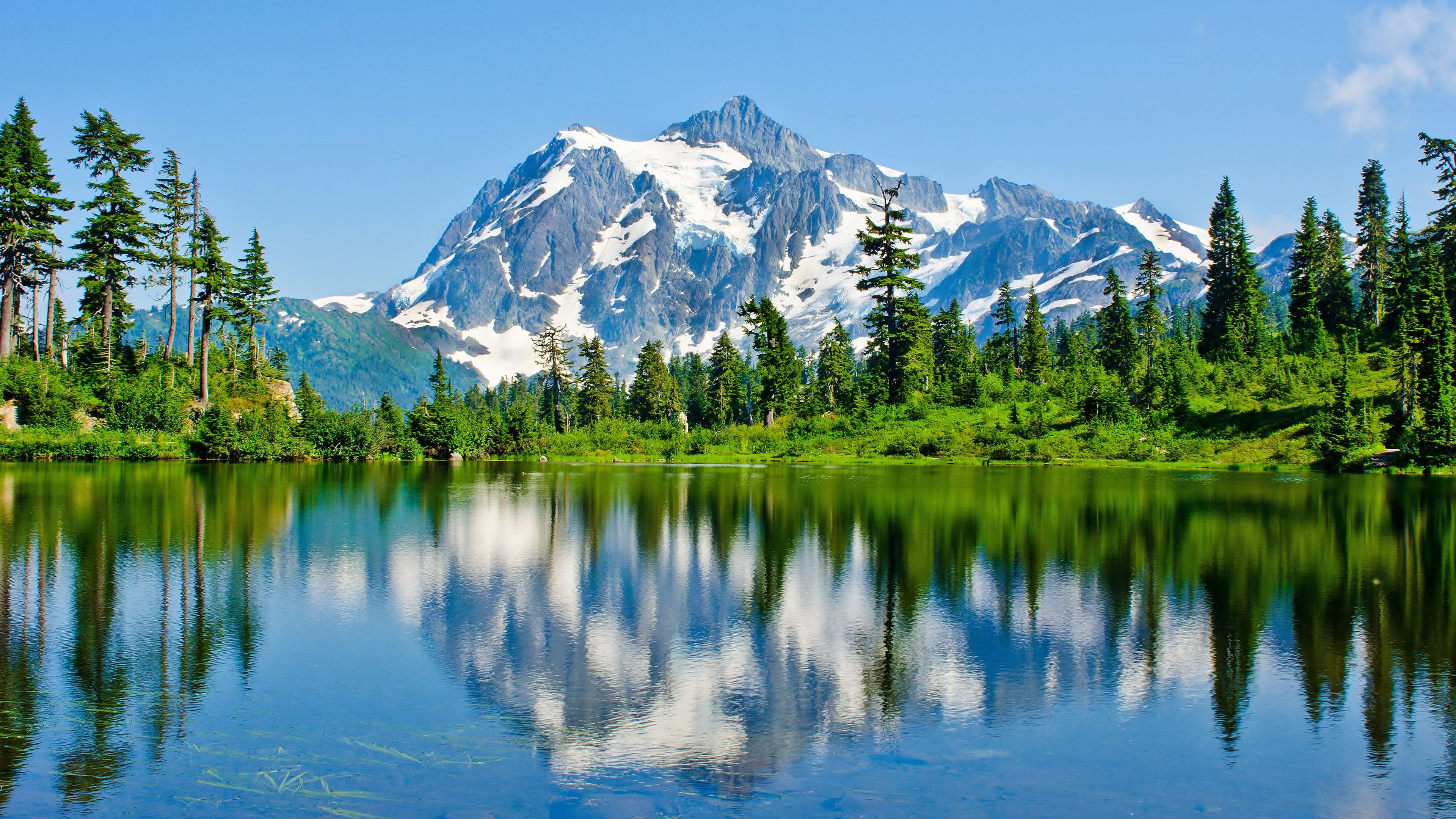 mount shuksan glaciated massif north cascades national park washington united states 4k wallpaper