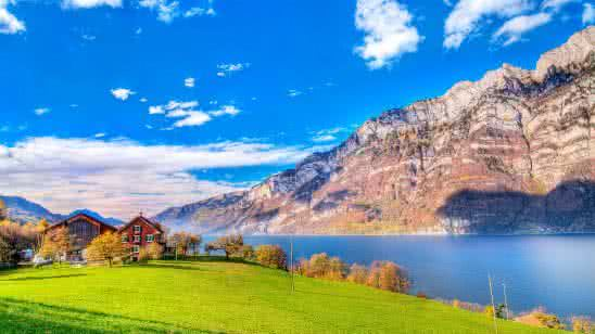 Quarten Switzerland Landscape 4k Wallpaper