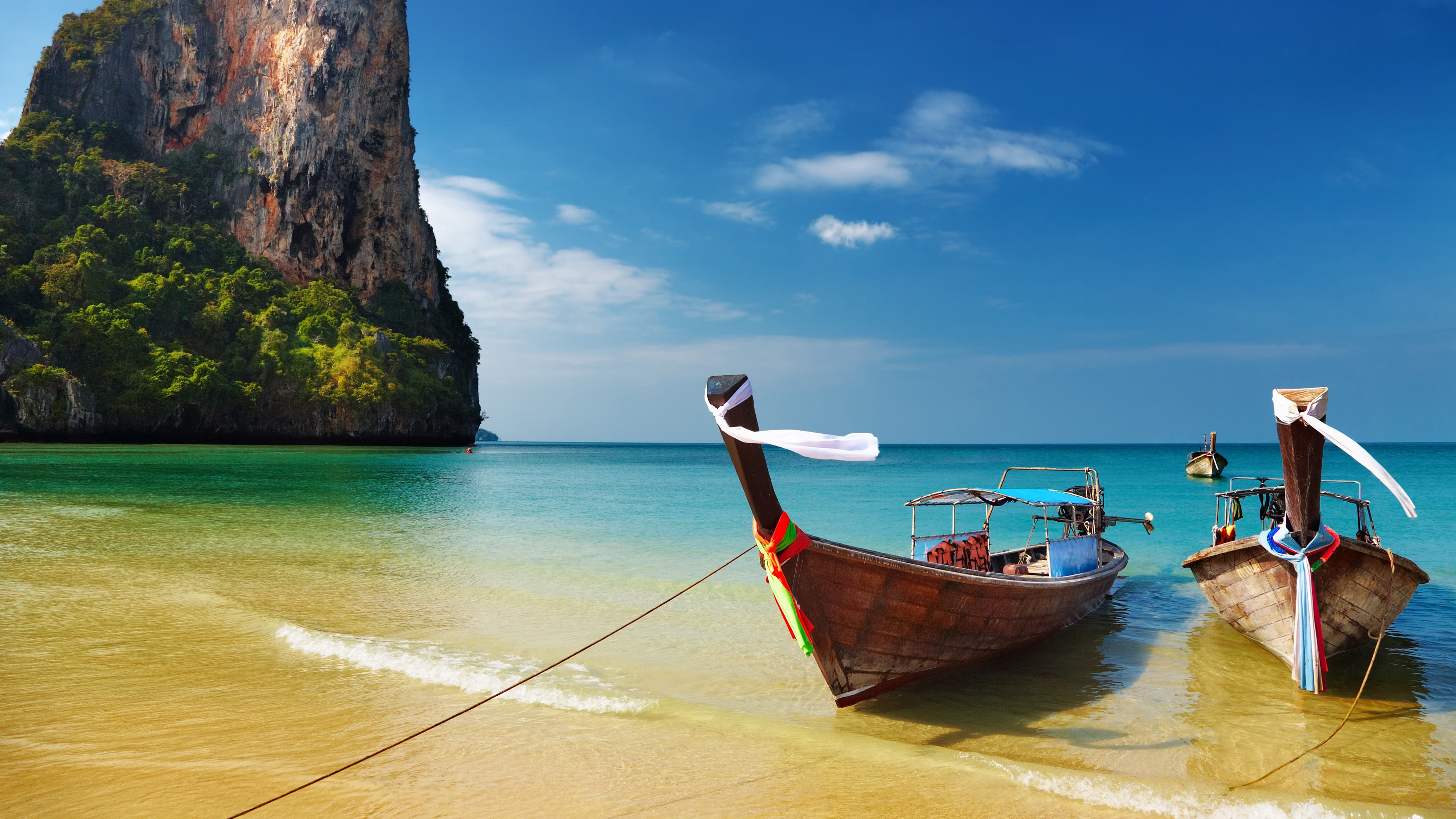 railay beach thailand 4k wallpaper