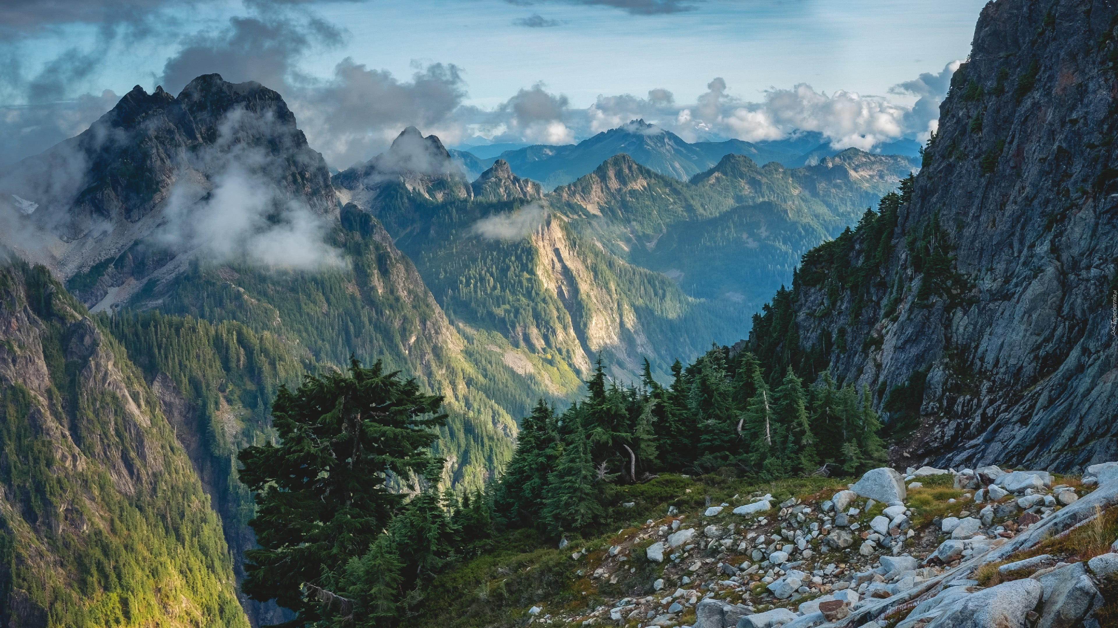 sunset in the cascades vesper peak washington united states 4k wallpaper