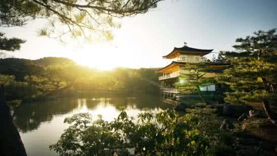temple of the golden pavilion kinkaku ji kyoto japan 4k wallpaper