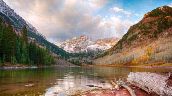 the maroon bells elk mountains rockies colorado united states 4k wallpaper
