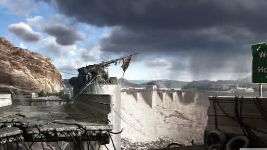 fallout new vegas hoover dam 4k wallpaper