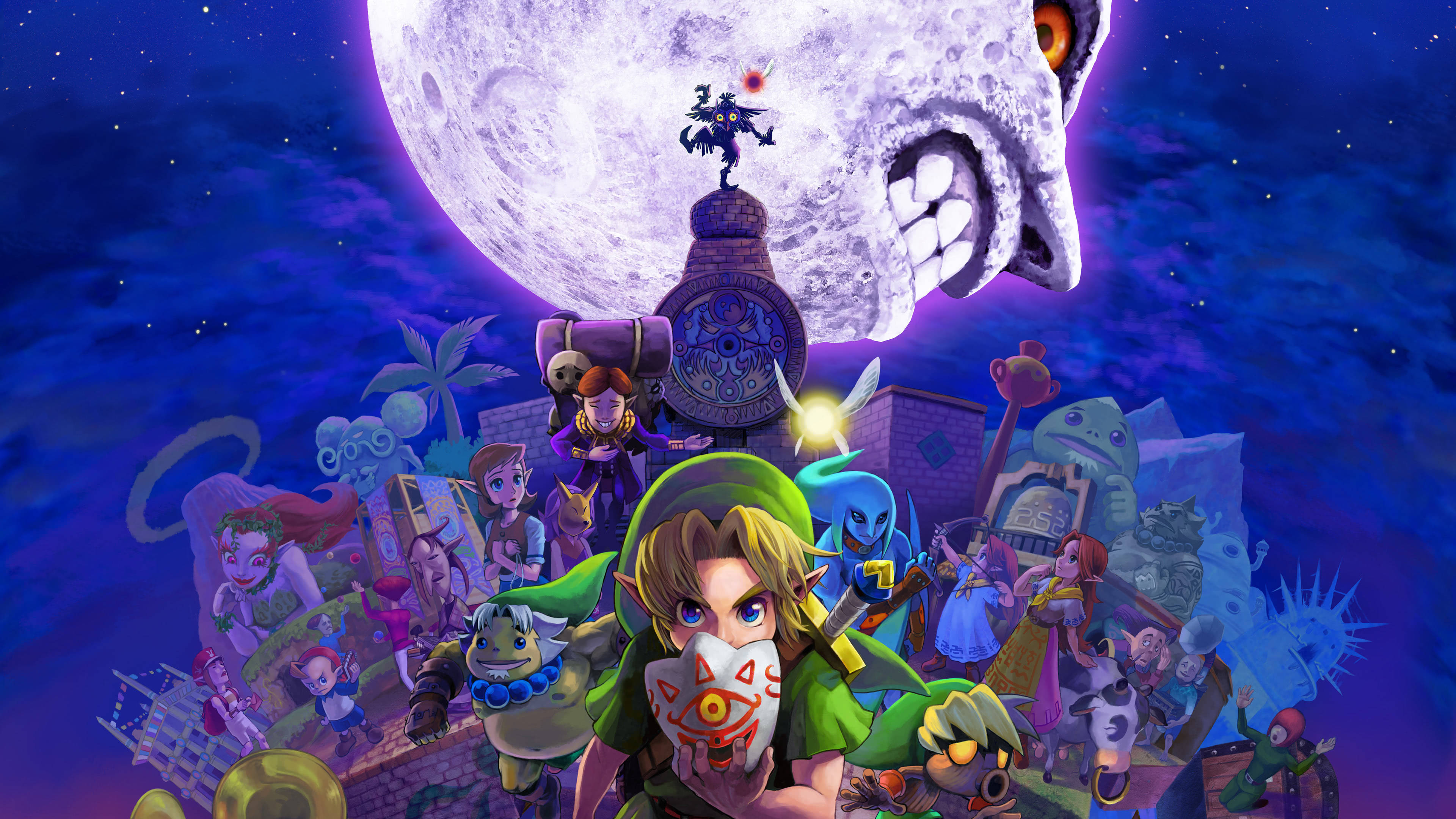 legend of zelda majoras mask 4k wallpaper