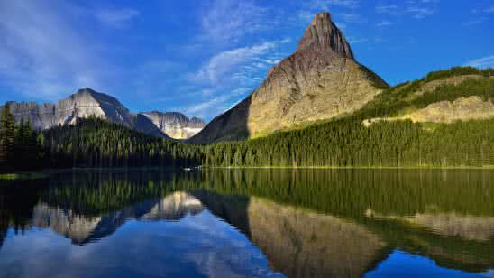 rocky mountains glacier national park montana united states 8k wallpaper