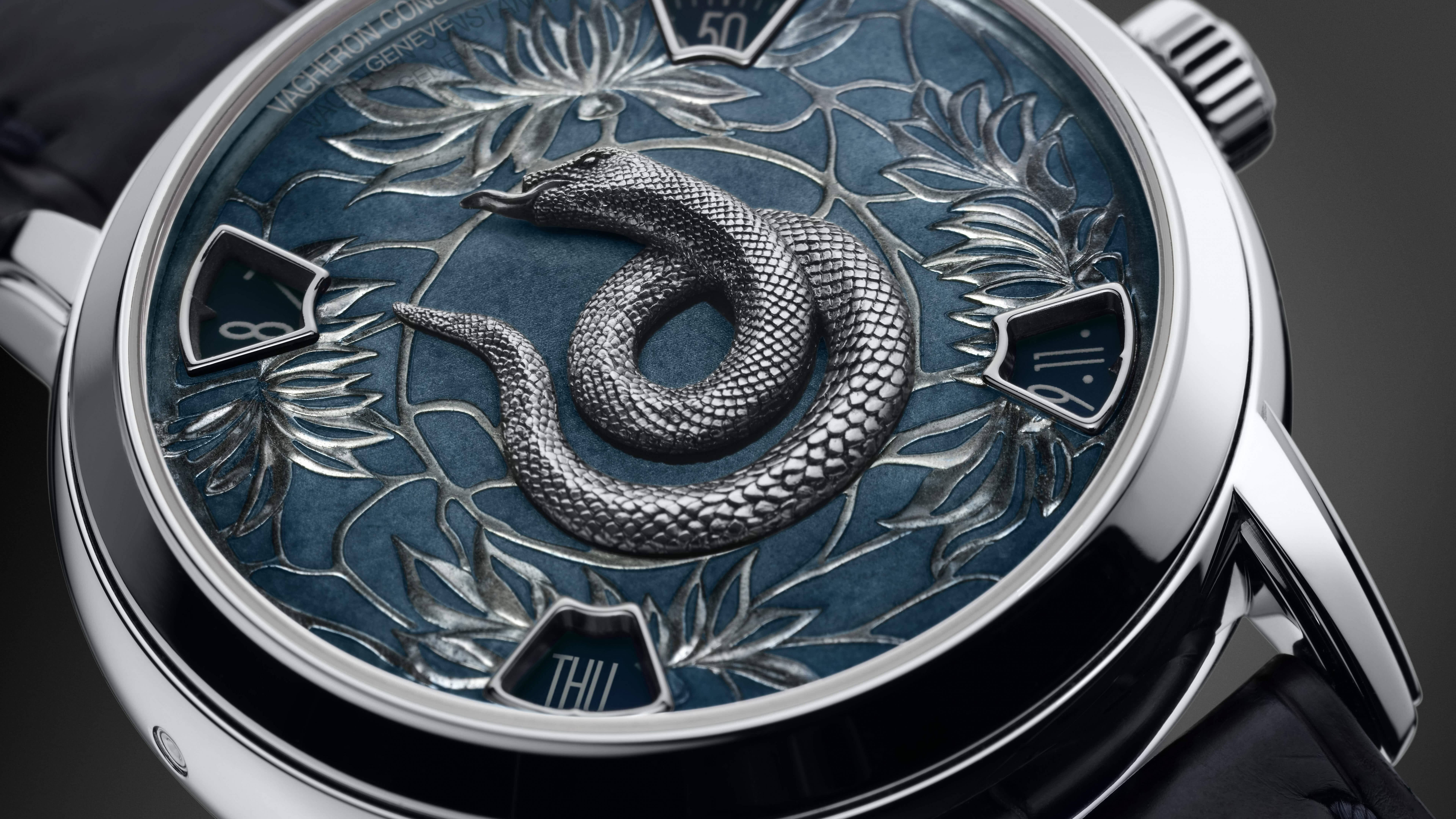 vacheron constantin year of the snake timepiece 8k wallpaper
