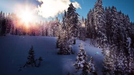 winter in tirol resort austria 4k wallpaper