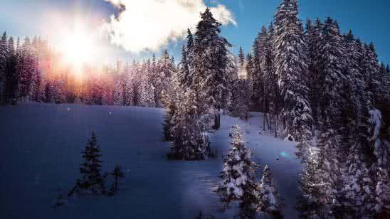 winter in tirol resort austria 4k wallpaper