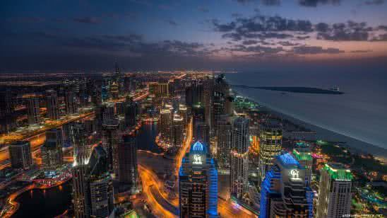dubai marina at night united arab emirates uhd 4k wallpaper