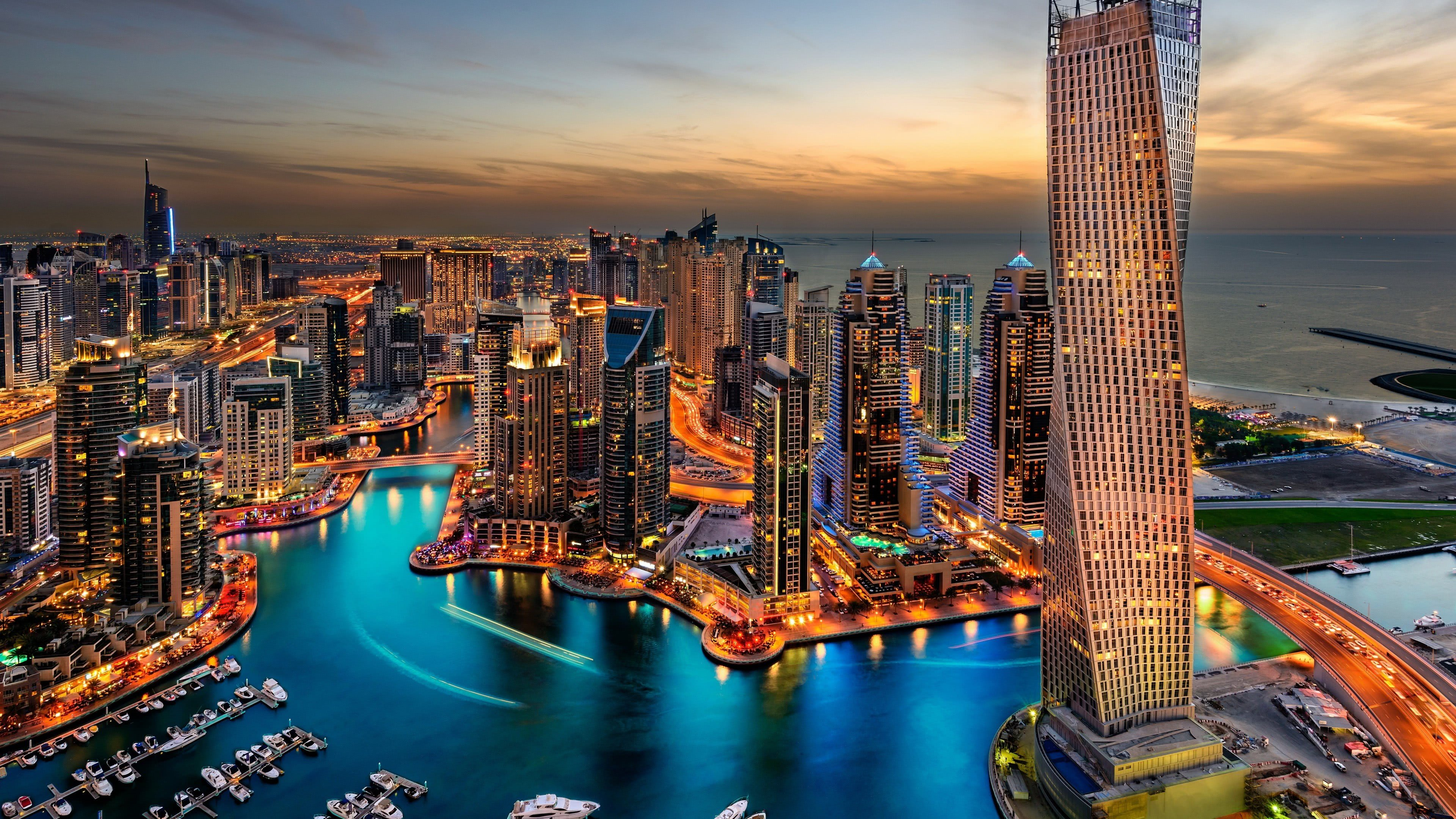 dubai skyscrapers united arab emirates uhd 4k wallpaper
