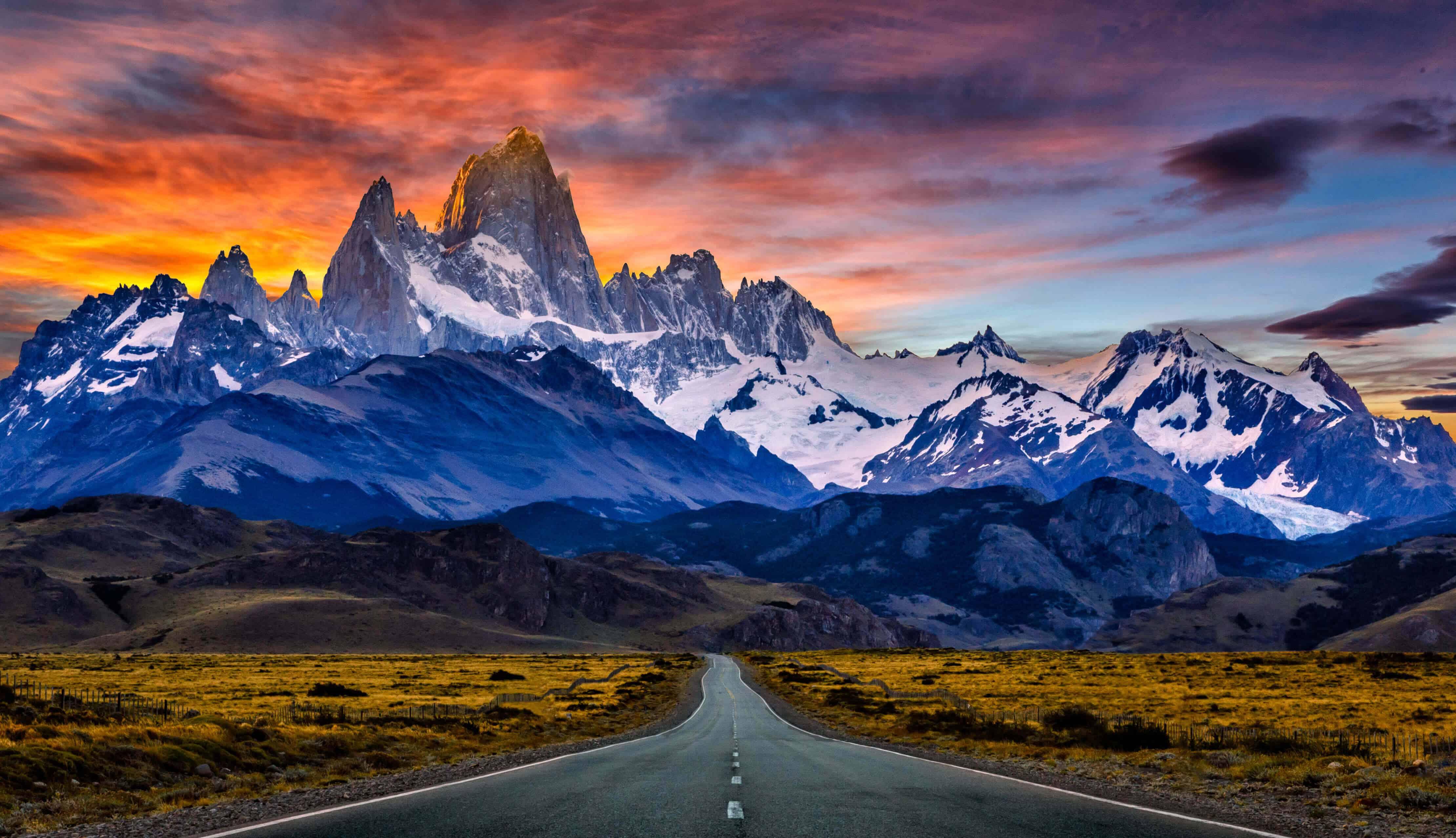 monte fitz roy mountain patagonian ice field patagonia uhd 4k wallpaper
