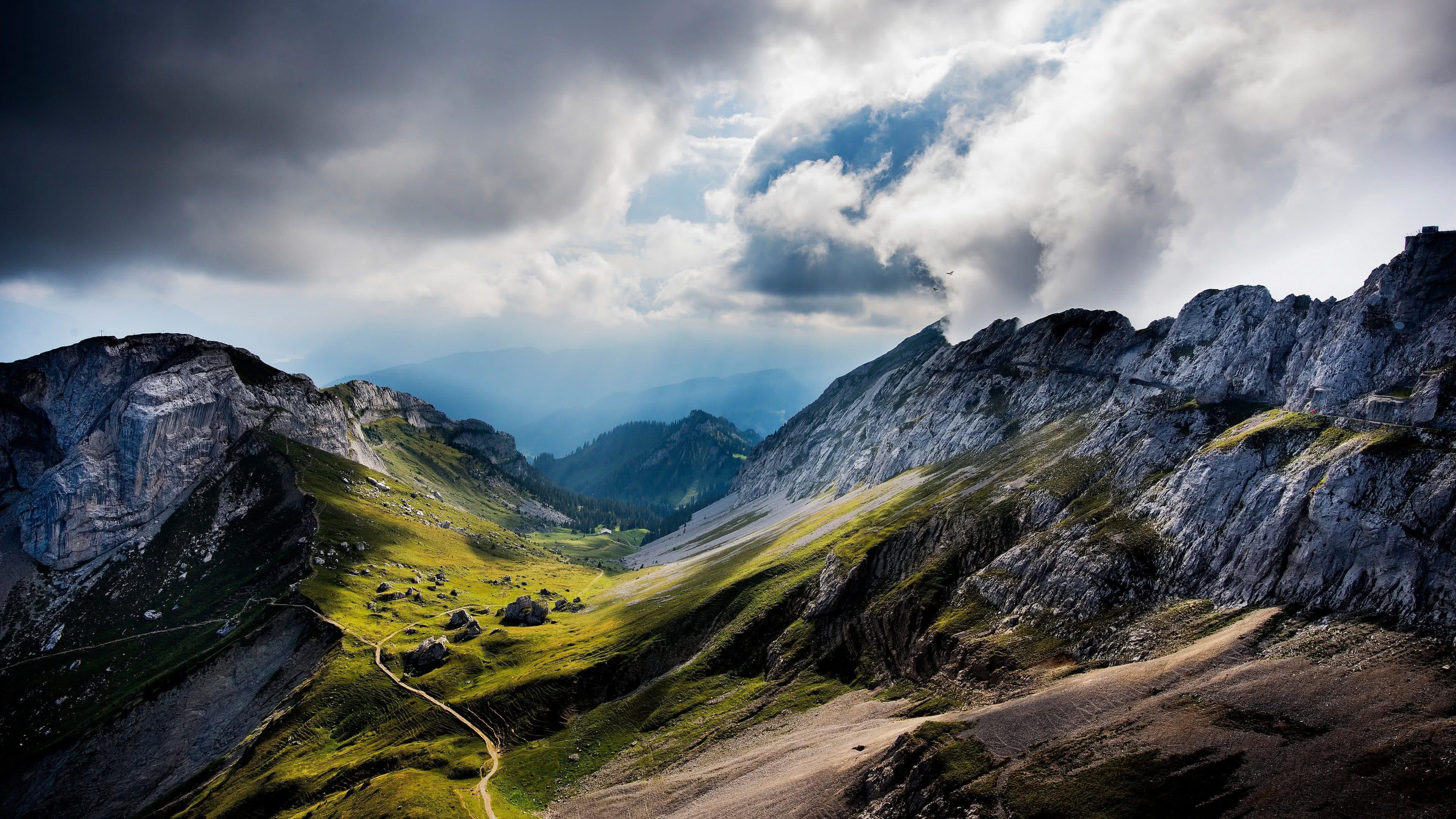 mountain range switzerland uhd 4k wallpaper