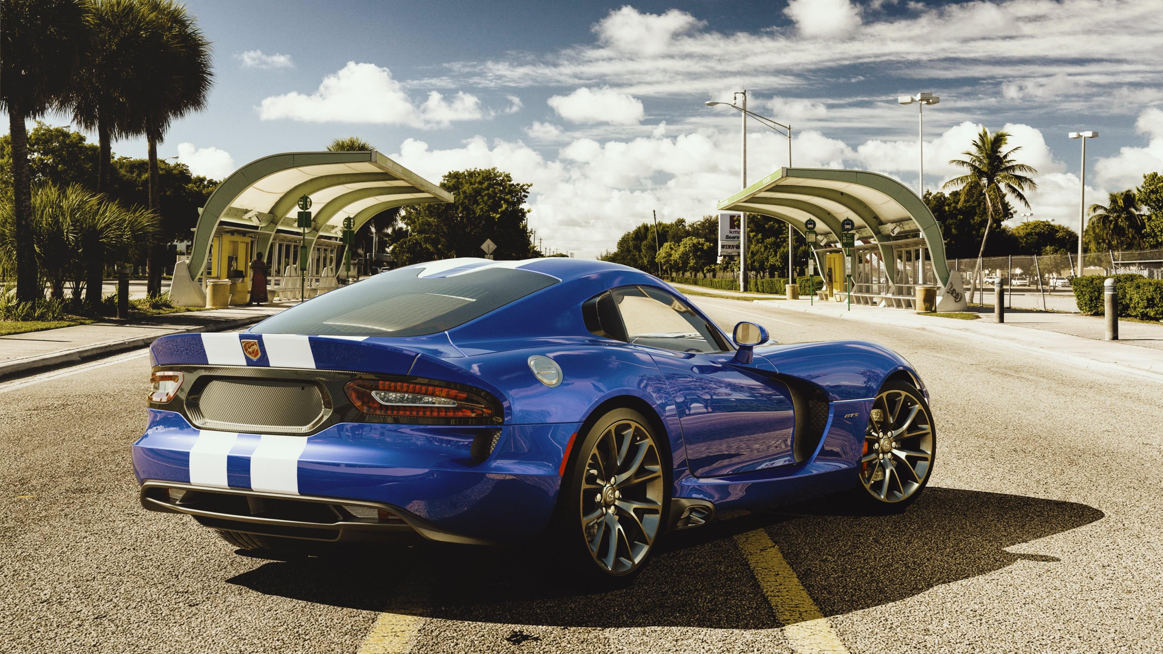 Blue Dodge Viper Gts Uhd 4k Wallpaper