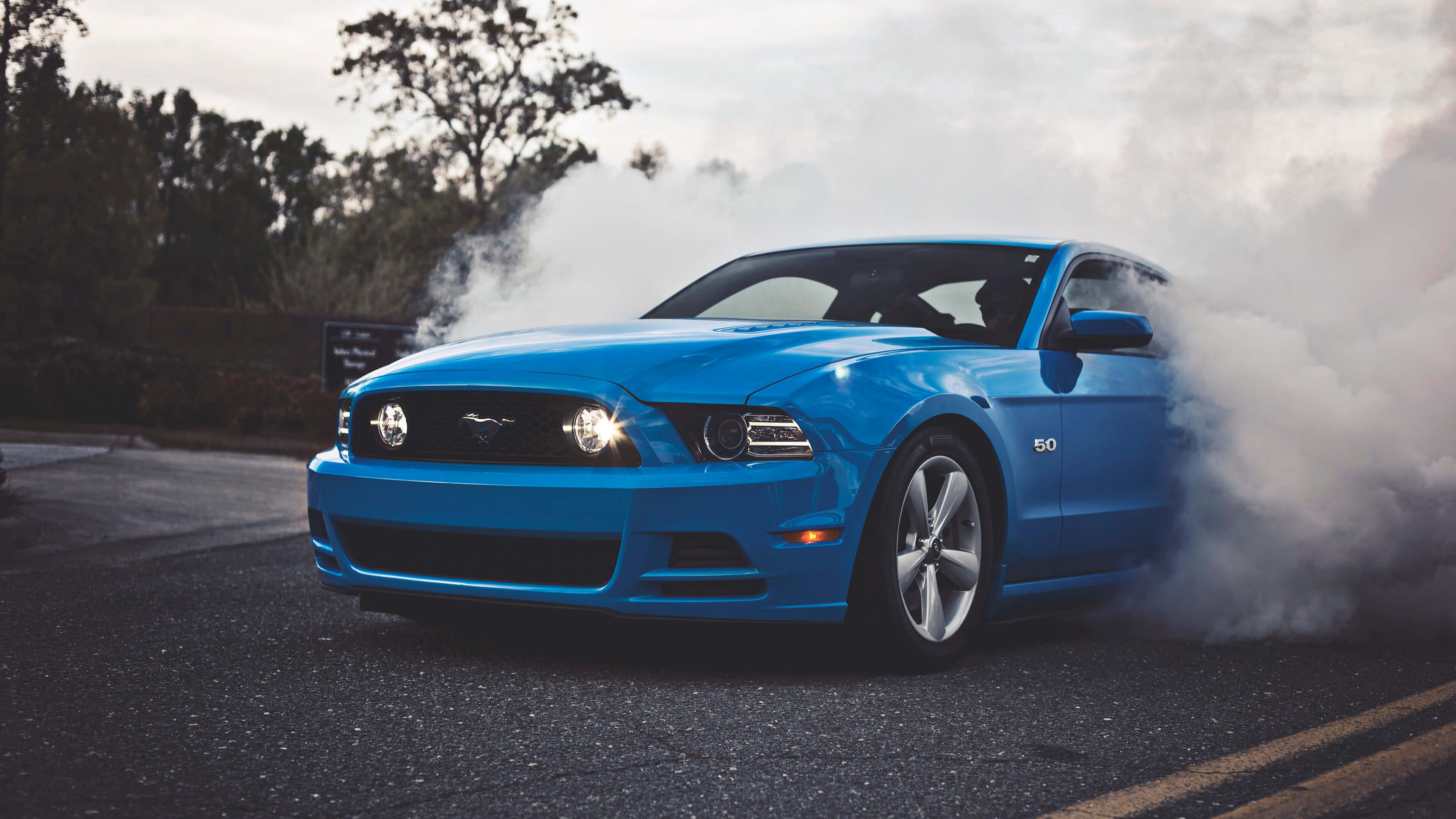 blue ford shelby mustang uhd 4k wallpaper