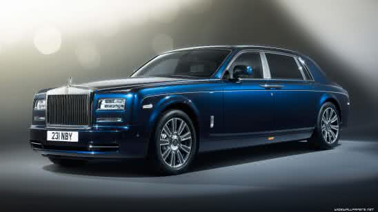 blue rolls royce phantom 2017 uhd 4k wallpaper