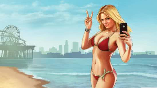 grand theft auto five bikini model uhd 4k wallpaper