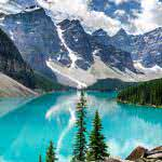 moraine lake banff national park alberta uhd 4k wallpaper