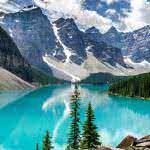 moraine lake banff national park alberta uhd 4k wallpaper