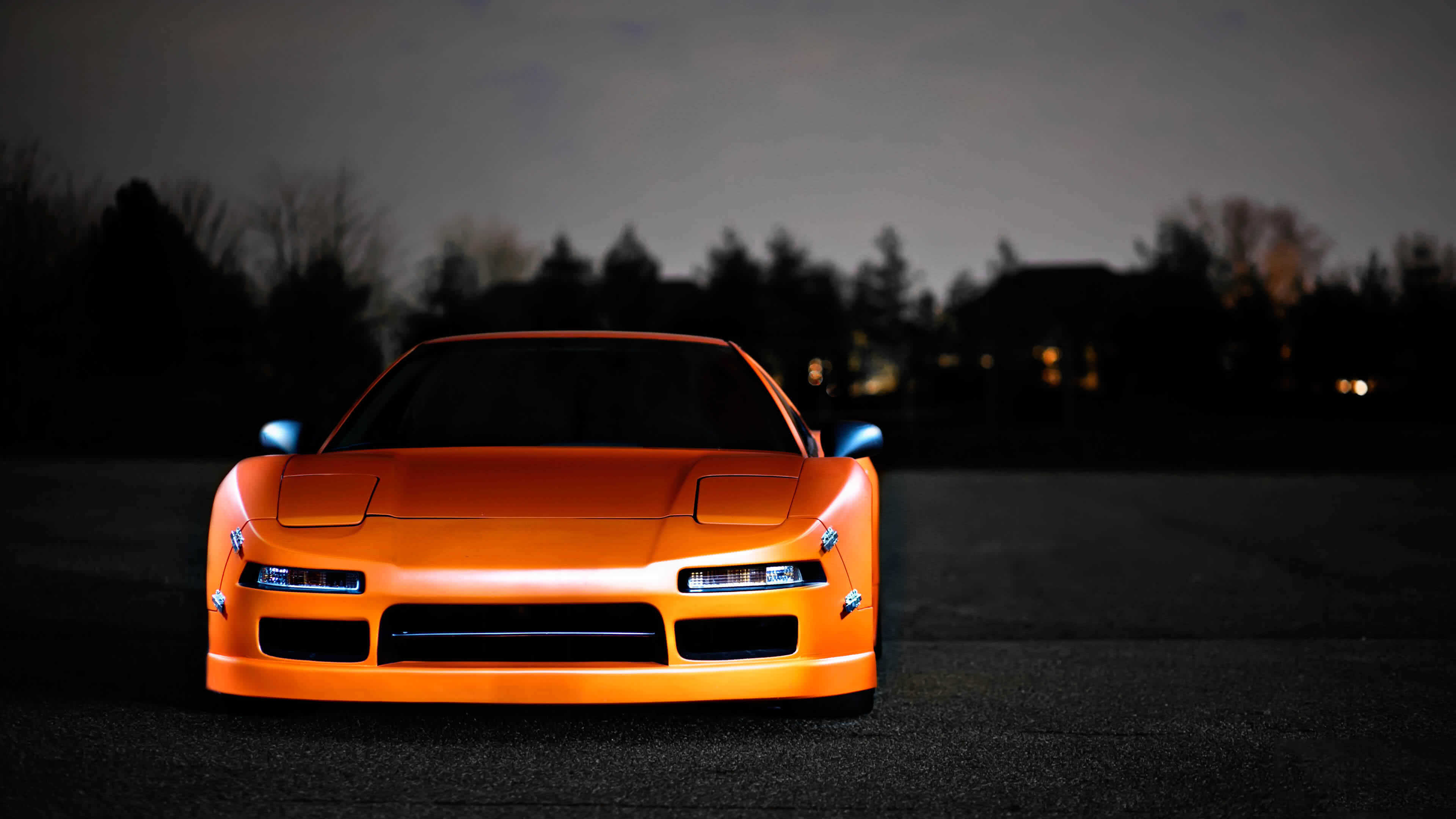 orange acura nsx uhd 4k wallpaper