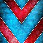 Red And Blue Triangle Pattern