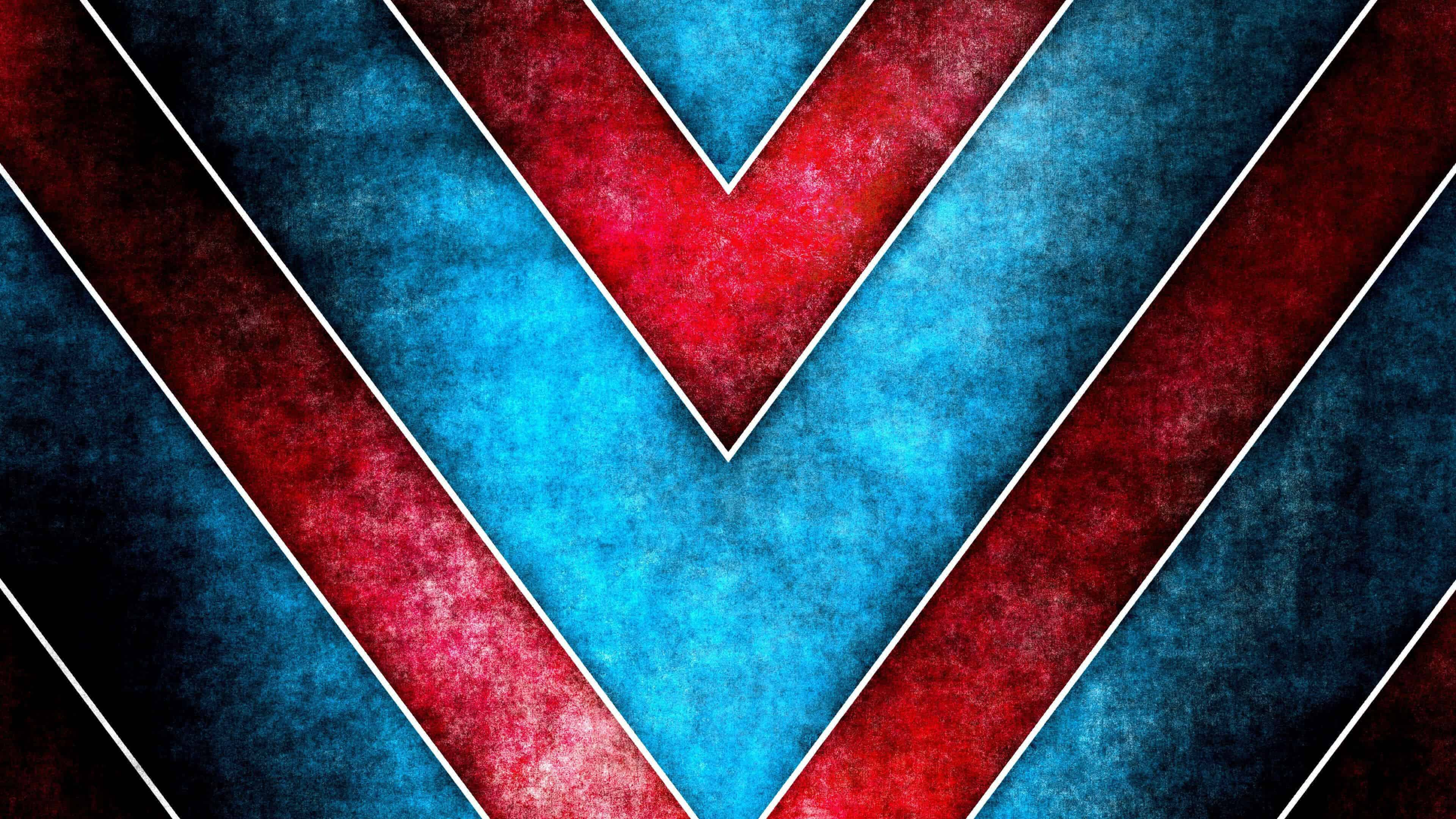 red and blue triangle pattern uhd 4k wallpaper