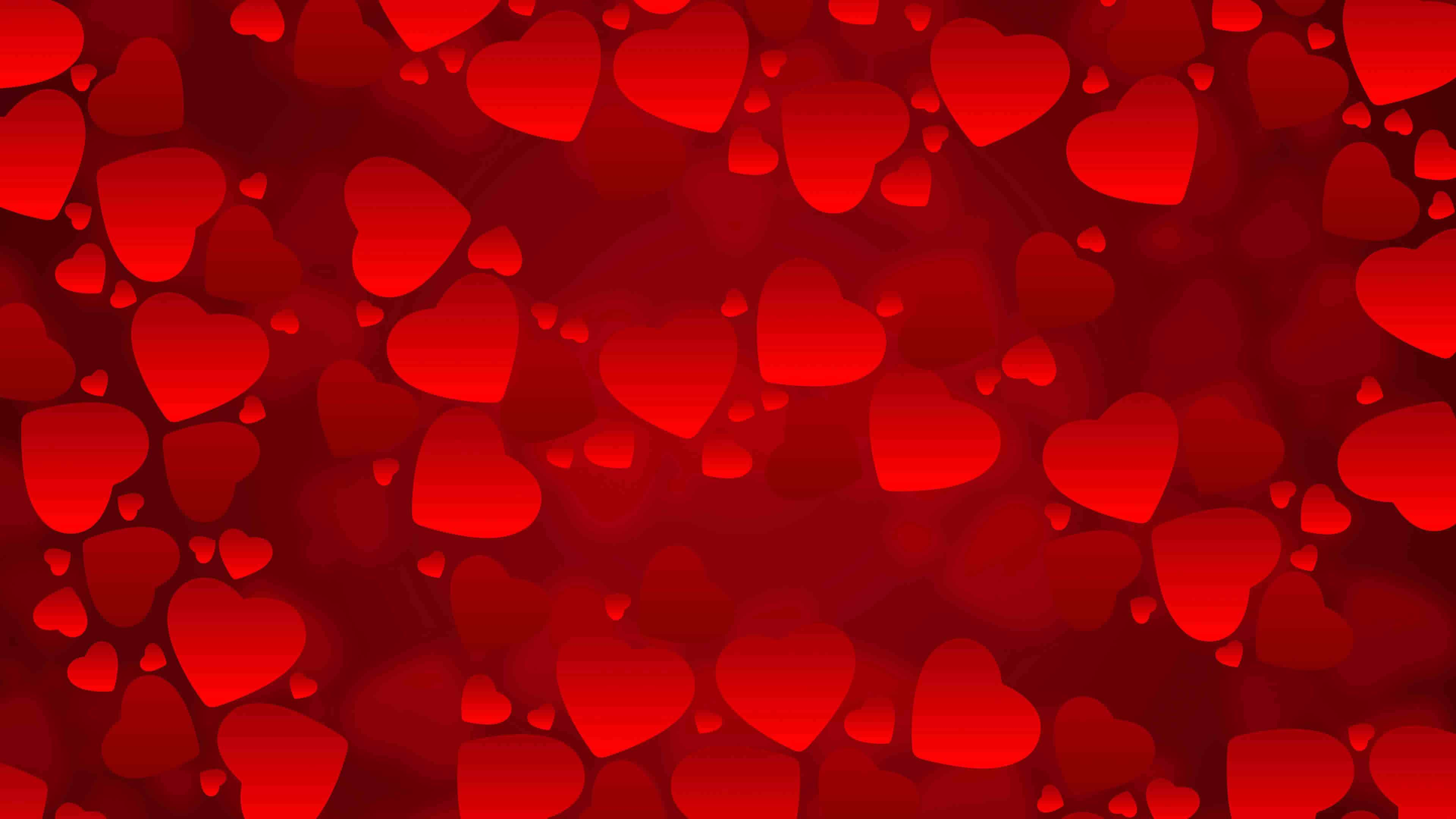 red valentines heart background uhd 4k wallpaper