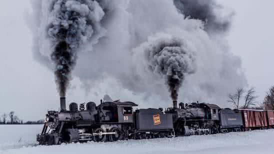 strasburg rail road train during winter in pennsylvania united states uhd 4k wallpaper