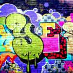 Yes Graffiti Art On A Brick Wall