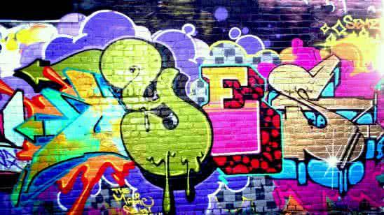 yes graffiti art on a brick wall uhd 4k wallpaper