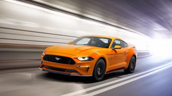 orange 2018 ford mustang uhd 8k wallpaper