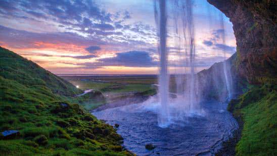 seljalandsfoss waterfall iceland uhd 8k wallpaper