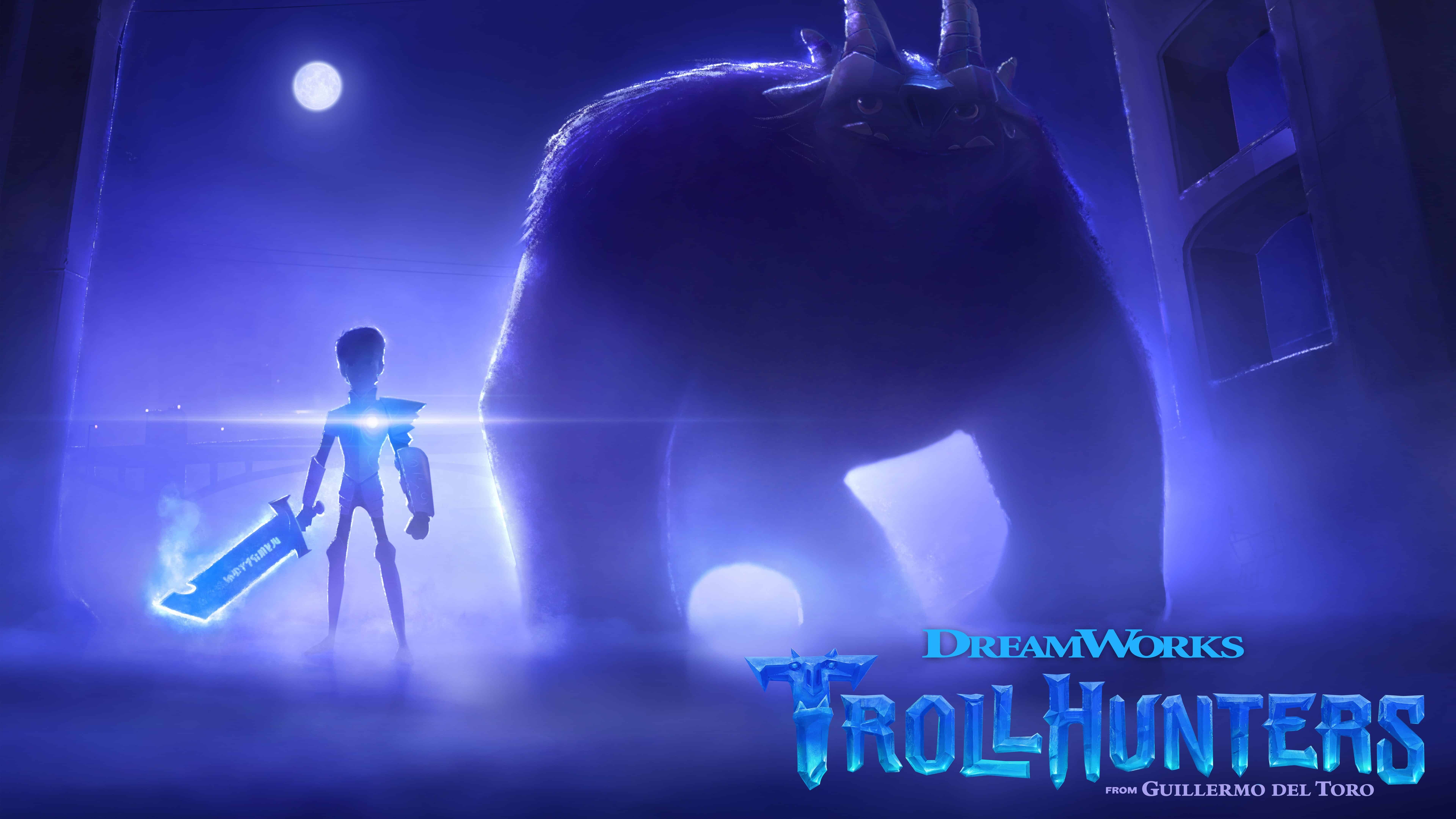 trollhunters uhd 8k wallpaper