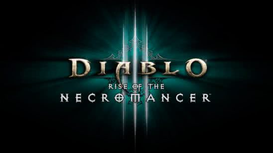 diablo 3 rise of the necromancer logo uhd 8k wallpaper