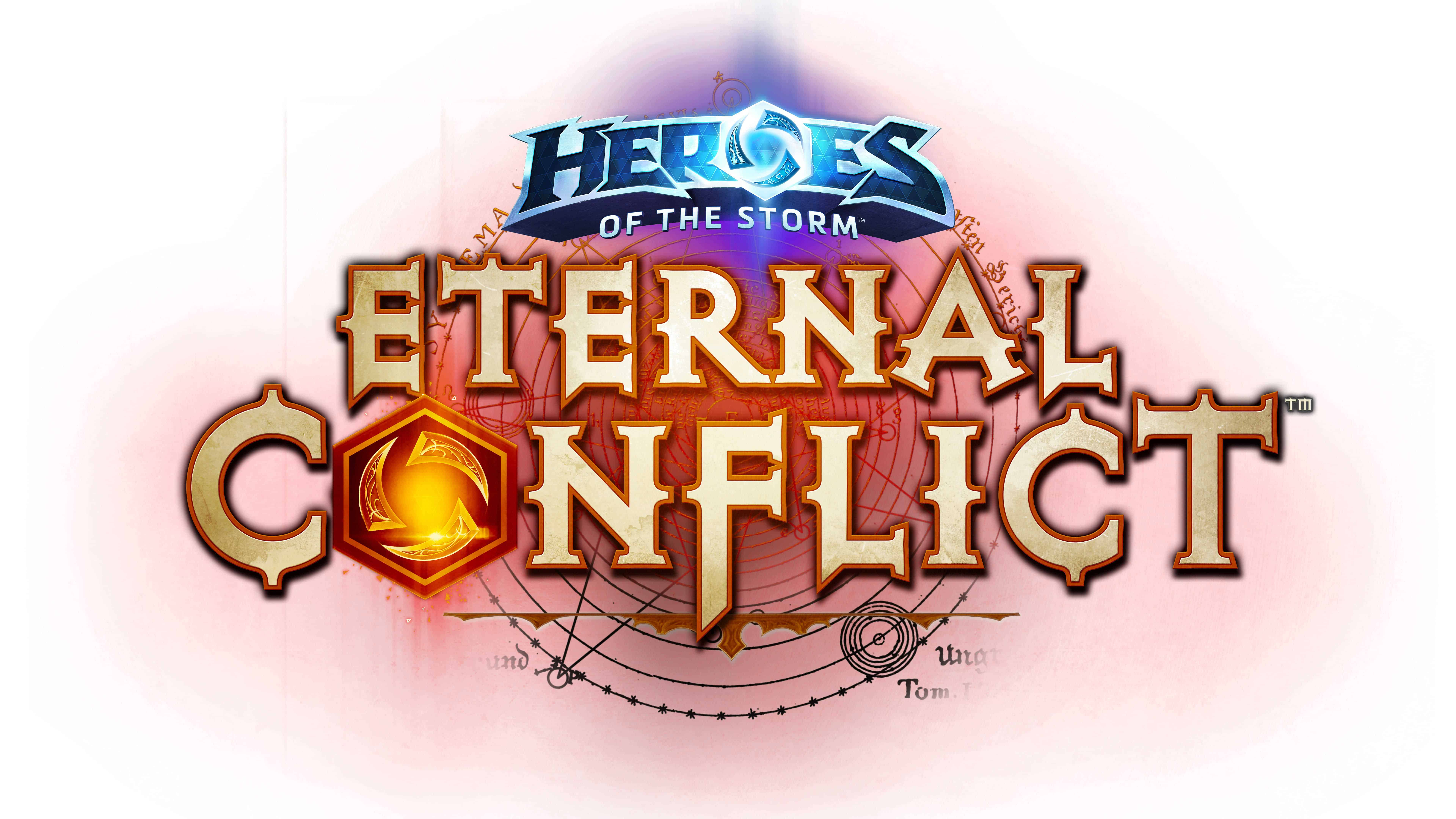 heroes of the storm eternal conflict logo uhd 8k wallpaper