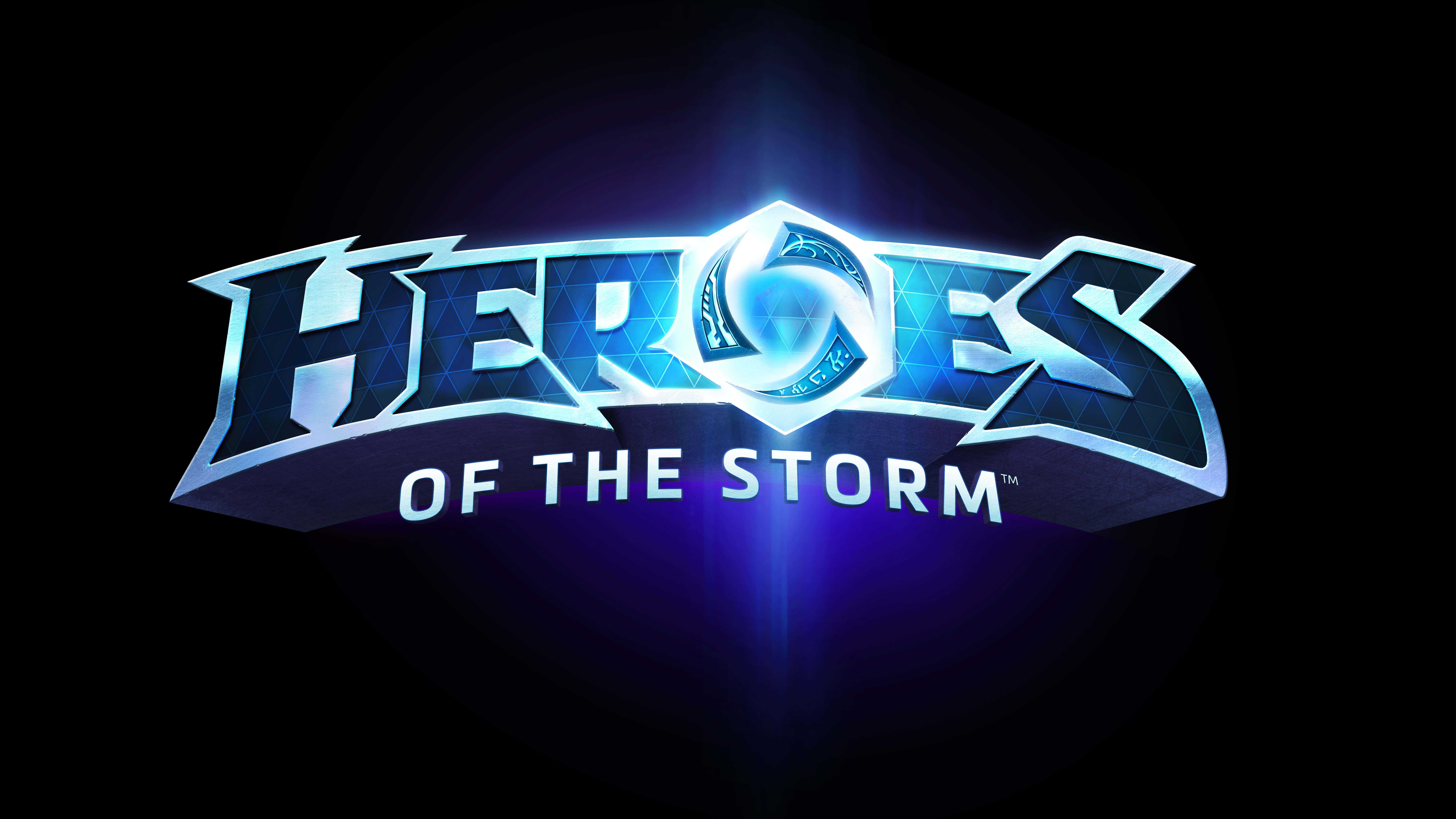 heroes of the storm logo uhd 8k wallpaper