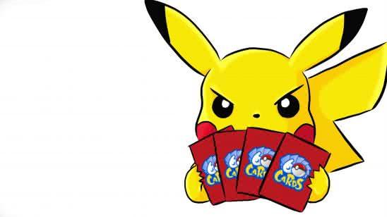 pikachu playing cards uhd 8k wallpaper