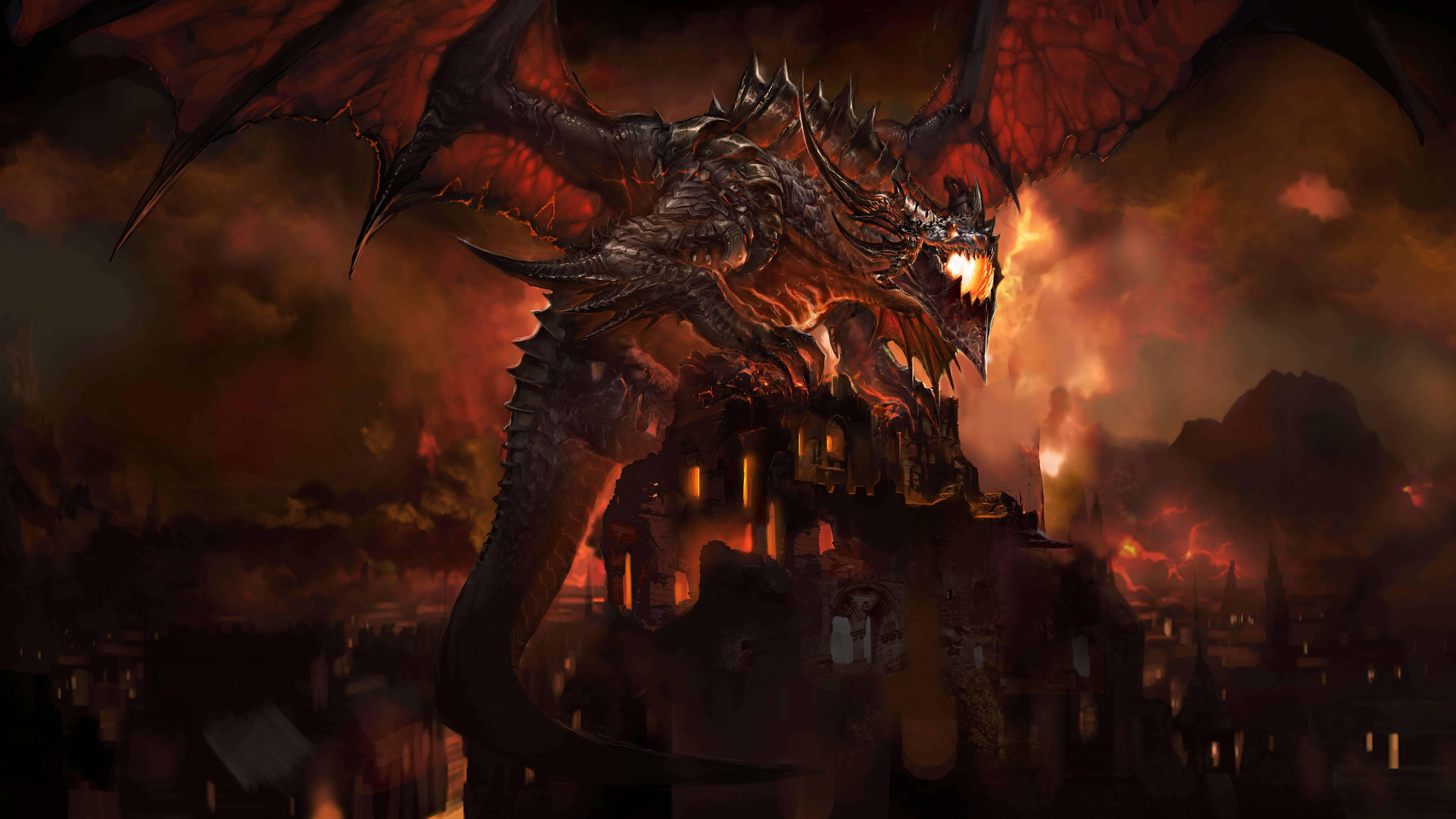 world of warcraft cataclysm uhd 8k wallpaper