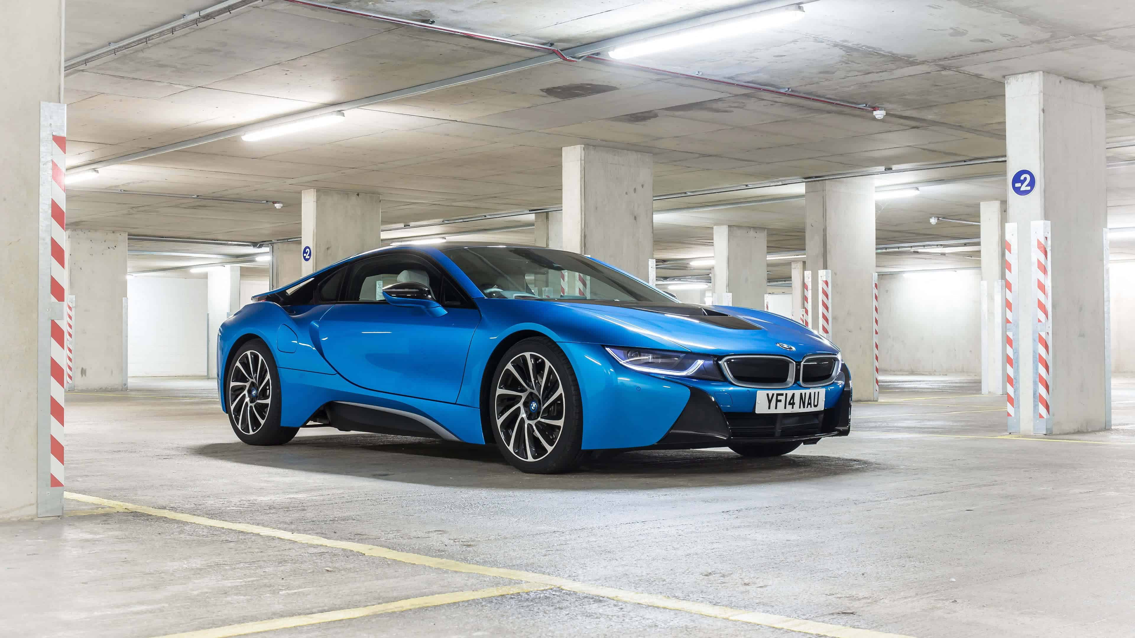 2016 blue bmw i8 uhd 4k wallpaper