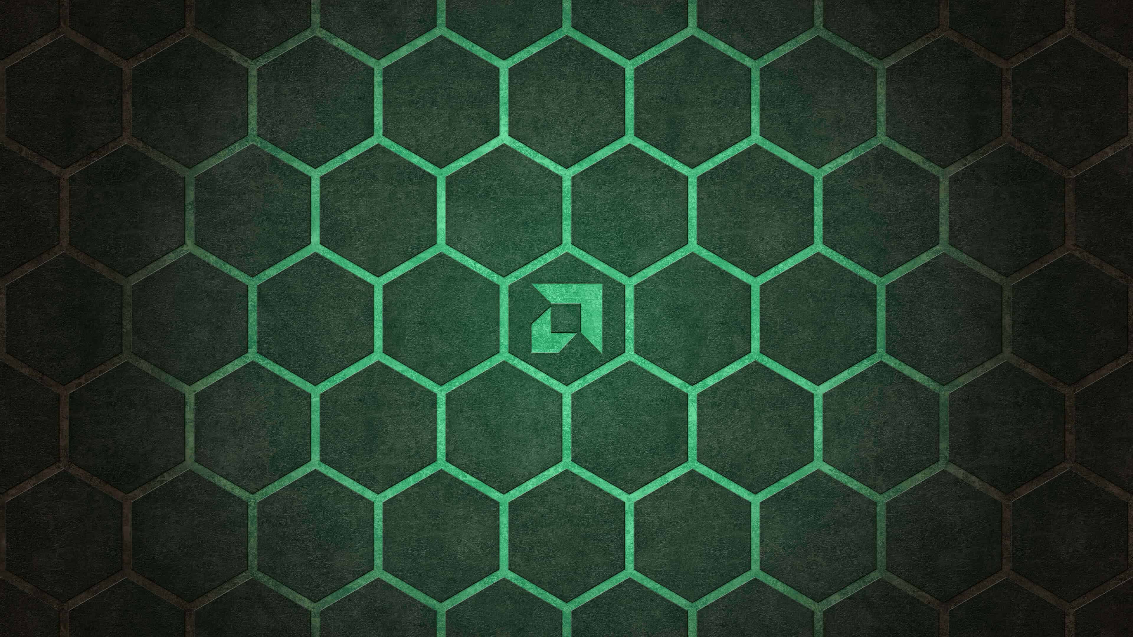 amd hexagon background uhd 4k wallpaper