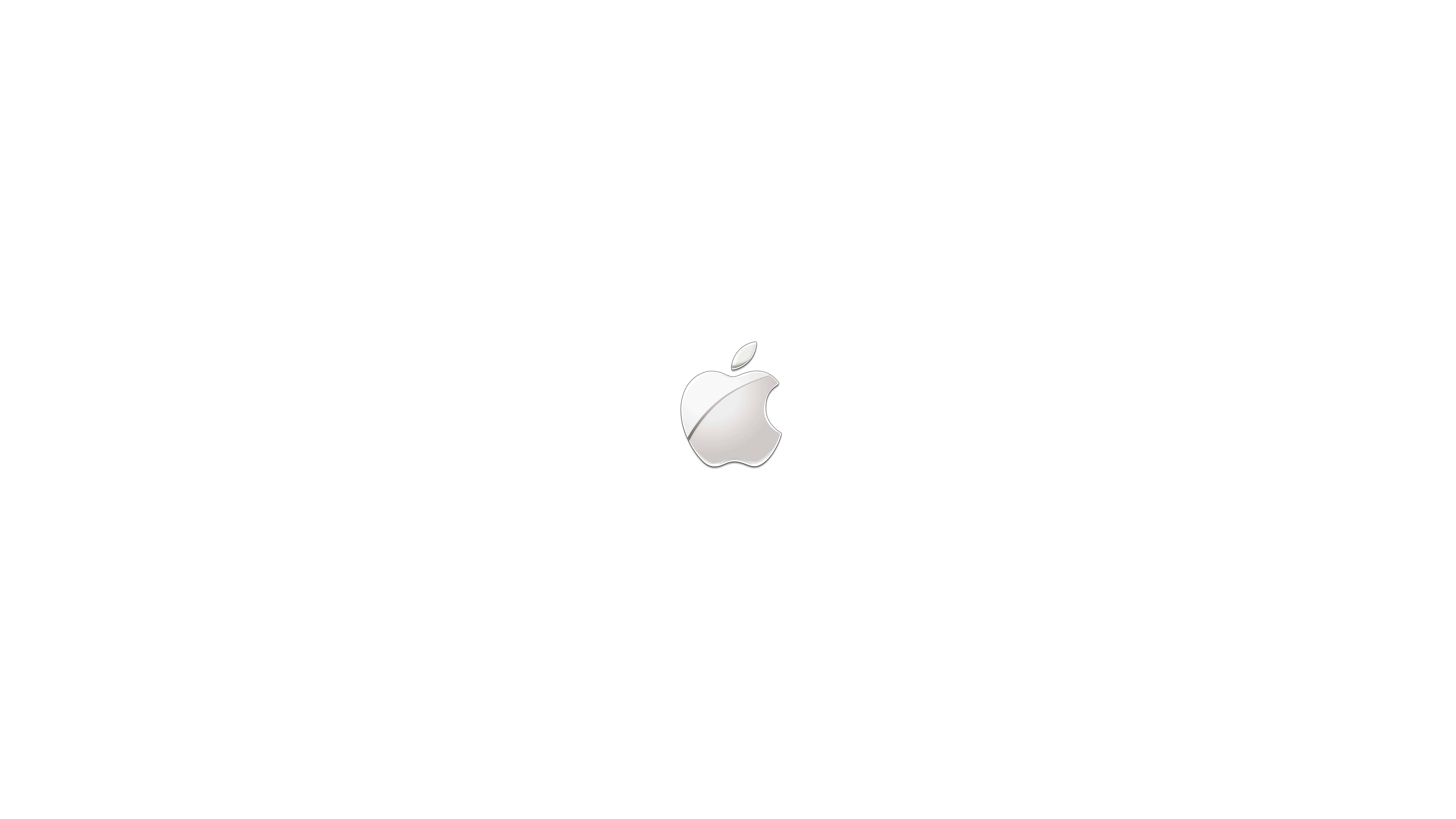apple logo silver uhd 8k wallpaper