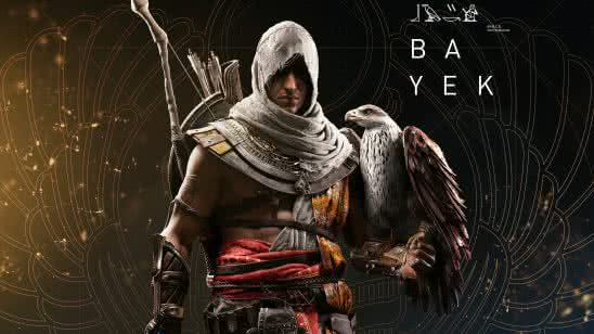 assassins creed origins bayek and eagle uhd 8k wallpaper
