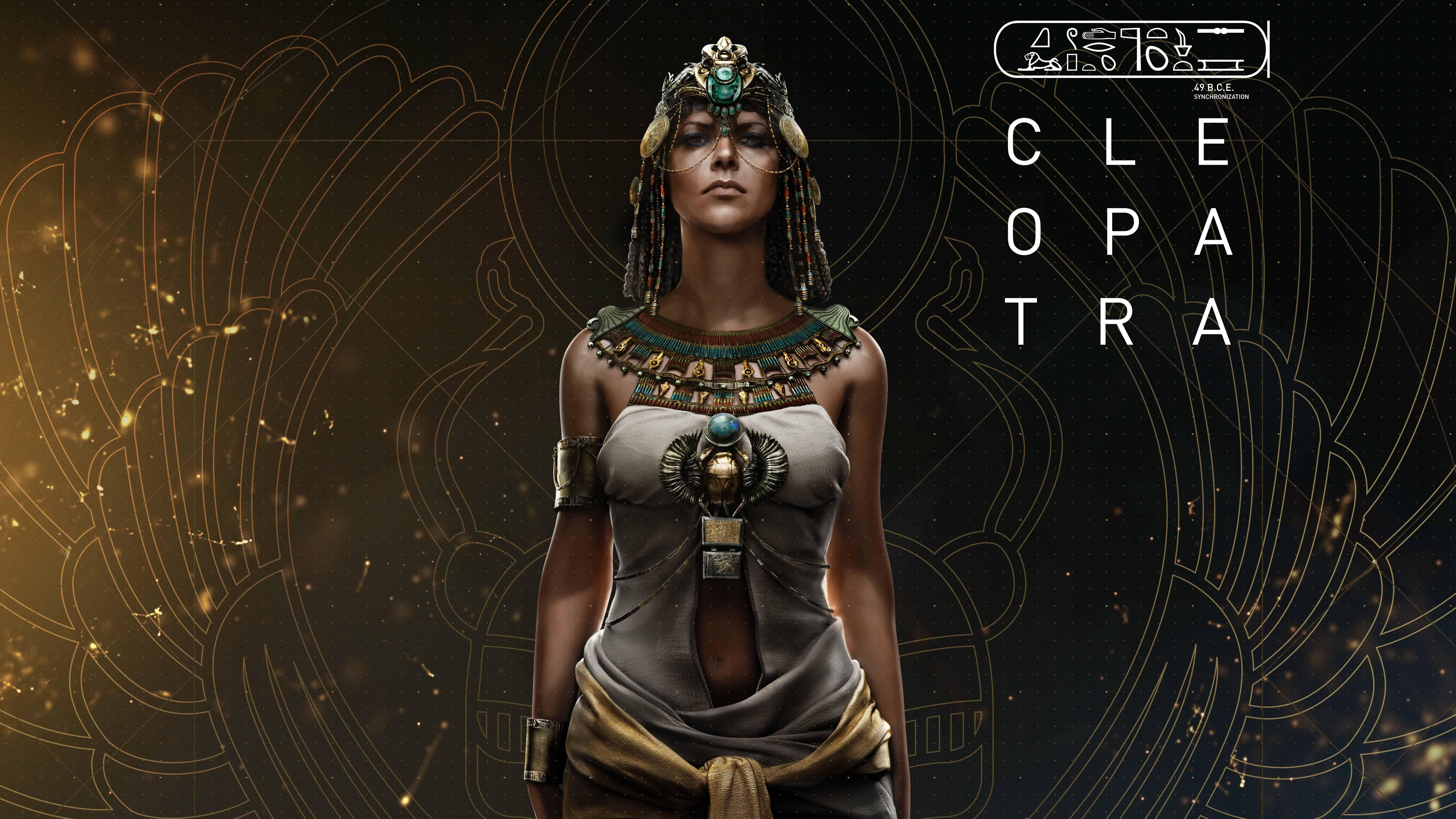 assassins creed origins cleopatra uhd 8k wallpaper